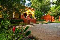 Hacienda Misné is a historic construction from the 18th century, with a unique combination of architectural details from colonial times, with a slightly french influence. It has a beautifully restored main house and the property is still surrounded by the walls that used to protect the Hacienda and its tropical lush gardens.  Toll Free: 01 866 5070278   Email: reserva@haciendamisne.com.mx