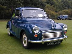 Just a nice picture or a beautiful blue 1969 Morris Minor.  (Not sure what the color is - it doesn't appear to be the classic Trafalgar Blue, but this may be a standard blue they offered, whose name I can't recall right now.)