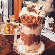 You've probably heard about Australia's milkshakes.   Everyone Is Losing Their Minds Over This London Café's Insane Milkshakes