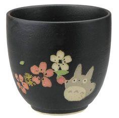 Cup / Yunomi - 210cc - Porcelain - Mino Yaki - made in Japan - Totoro & Sakura - Ghibli - 2015 (new)