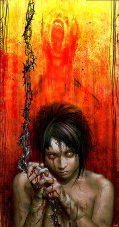 [Horror art] Tear Down Heaven by camilkuo