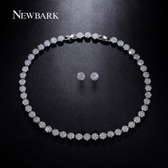 Find More Jewelry Sets Information about NEWBARK Earrings And Necklace 18K White…