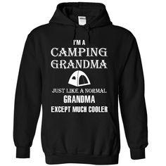 Camping grandma is cooler