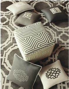 design indulgence: SCHUMACHER- by Mary MacDonald. Appliques and rugs.