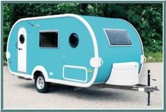 Fab retro styling and space age technology meet in this cute T@B trailer....detailed inside and out to look like those made in the 1940s, '50s, and '60s. Camper cool for sure. http://vogeltalksrving.com/2011/03/old-is-new-again-new-retro-rv-manufacturer/