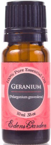 Gonna get some and make some face cleanser for my mom :)    Geranium (Bourbon) 100% Pure Therapeutic Grade Essential Oil- 10 ml by Edens Garden, http://www.amazon.com/dp/B002RTAJDK/ref=cm_sw_r_pi_dp_vtcuqb0V2H0D6