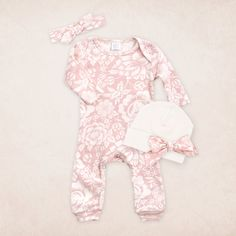 Newborn Take Home Outfit Newborn Girl Romper & by TesaBabe on Etsy
