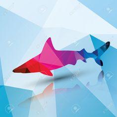 geometric shark vector - Google Search