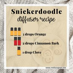 Snickerdoodle cookies are my favorite, but do you know what makes all the difference? Find out and get your own snickerdoodle essential oils diffuser recipe. Essential Oil Diffuser Blends, Essential Oils, Homemade Cleaning Supplies, Diffuser Recipes, New Years Party, Christmas And New Year, Get Healthy, Aromatherapy, Healthy Living