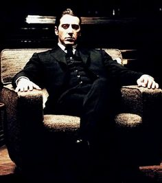 Michael Corleone (Al Pacino), The Godfather Diane Keaton, Gq, Robert Duvall, Great Films, Good Movies, Steve Mcqueen, The Godfather Wallpaper, Movie Stars, Movie Tv