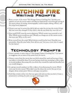 Numerous activities to use for the Catching Fire movie; includes writing, reading, listening, analysis, creative projects, research, and technology-integration options.