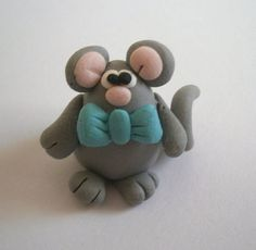 Mouse Polymer Clay creation by bdbworld