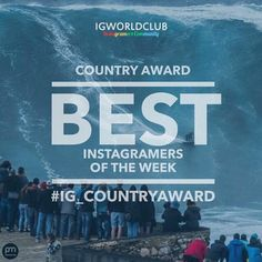 Presents  I G  C O U N T R Y  A W A R D  The first and greatest contest from 2012  Edition N. 153  330 Igworldclub Country Account  R U L E S  Put the Tag #ig_ivrea#ig_countryaward #instagramersofthemonth_march  Follow @ig_ivrea @igworldclub  New photos of the week.  Unlimited entries  Thursday each account will choose 3 photos from his tag and make a contest to decide the winner.  T H E  F I N A L  Who will win the Local Country Award Must be partecipate to final selection on Friday to main…
