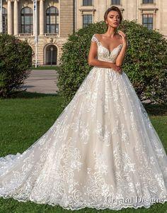 Crystal Design Wedding Dresses 2018 Princess Ball Gowns c15509a58529