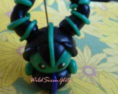 Maleficent Inspired Key Chain, Stocking Stuffer, Disney Villains, Kawaii Polymer Clay Charms, Cute Accessories,Handmade