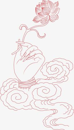 Bergamot lotus painted artwork PNG and Vector Hands Holding Flowers, Tibet Art, Kerala Mural Painting, Thangka Painting, Thai Art, Buddha Art, Zen Art, Hindu Art, Diy Canvas Art