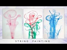 How To Make Your Abstract Painting Using String, Yarn, C0021 - YouTube
