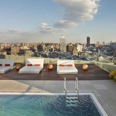 The James Hotel Rooftop Pool in New York, for more New York hotel ideas visit Redonline.co.uk