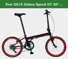 New 2015 Dahon Speed D7 20'' 7 Speed Folding Bicycle (Black/Red). Riding a bike has never been this fun. Sporty performance and exceptional value are the qualities of the Speed D7. The frame is hand-welded from custom-drawn Lightweight 4130 Cro Mo, Forged Lattice Hinge w/ V-Clamp Technology. It also features the 7-Speed Shimano RD-TX35 Rear Derailleur and Twist Shifter.