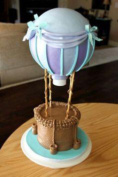 Hot air balloon cake baby shower