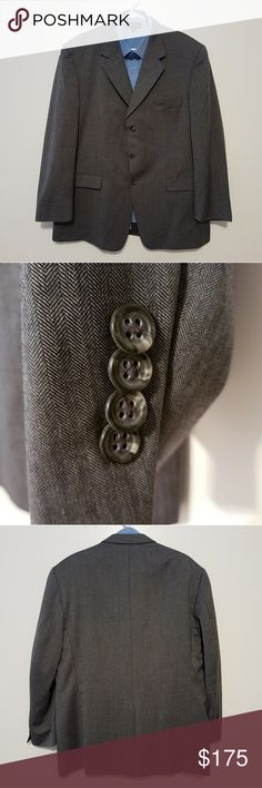 Burberry 46R Gray Sports Coat Gently worn and well taken care of. No other imperfections were found.  ***SHIRT NOT INCLUDED***  Measurements taken while laying flat: Size: Tag missing 46R Color: Gray Material: 100%Wool Chest (Underarm to Underarm): 24.5 Waist: 23 Length (From Bottom of Collar): 31.75 Sleeves (Top of shoulder to end of cuff): 25 Shoulders (Seam to seam): 20.5 Vent: Single Burberry Suits & Blazers Sport Coats & Blazers