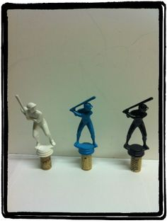 Up cycled wine bottle stoppers.