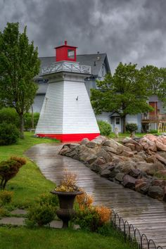 Walkway design going to lighthouse Annapolis Royal, Annapolis Valley, Atlantic Canada, Cape Breton, Prince Edward Island, New Brunswick, Beach Scenes, Covered Bridges, Newfoundland