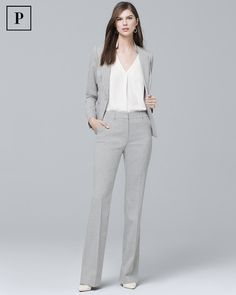 Women s Petite Suiting Slim Flare Pants by White House Black Market  Business Women be0c9dd7fb98