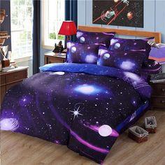 3d bedding set Duvet Cover Set galaxy bed sheet Universe Outer bedclothes