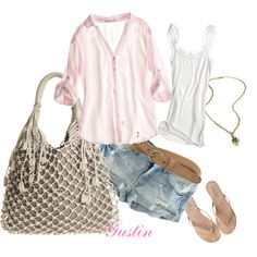 going to the beach, created by #gustinz on #polyvore. #fashion #style Love Sam CALYPSO ST. BARTH
