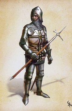 Caballero Teutónico de finales del siglo XIV o principios del XV. Más en www.elgrancapitan.org/foro