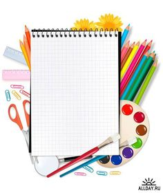 Back to school. notepad with school supplies. School Frame, I School, Back To School, New Quotes, Family Quotes, Happy Quotes, Image Pinterest, School Equipment, School Clipart