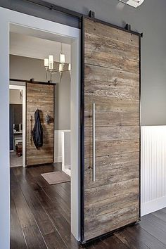 Modern Sliding Door Made From Pallet Wood