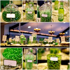 green candy bar ! Would be cool for a wedding!:)