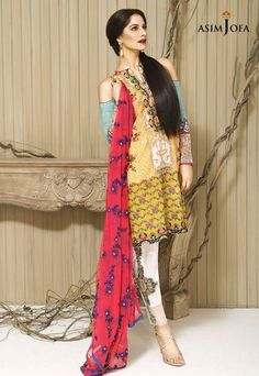 Asim Jofa Eid Embroidered Collection 2016 For Girls  #AsimJofa #EidCollection #Embroidered #Dresses #PremiumCollection #LuxuryWear #DesignerWear #Fashion