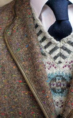 #Norajuku Stylist Picks: Nordic Patterned V-Neck Sweater. #menswear