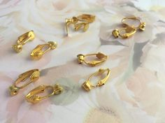 Earring Converters Gold  Plate Lot of 5 by AnniMaesCollectibles