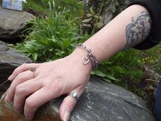 Ice Queen Pink/Blue/Wine Bracelet with memory by EnlightenedSpirit, $6.99