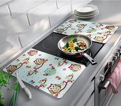 Herdabdeckplatten im süßen Eulen-Design #eulen #küche #weltbild