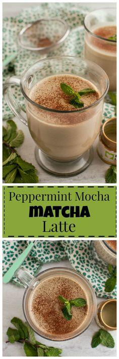 Peppermint Mocha Matcha Latte #vegan #paleo #clean #realfood