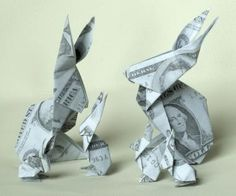 How to Fold a Money Origami Rabbit