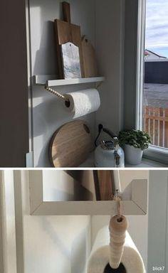 Küchenrollenhalter aus Holzkugelkette | ikeahacker | by blick7