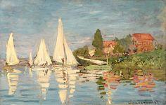 Regattas at Argenteuil by Claude Monet
