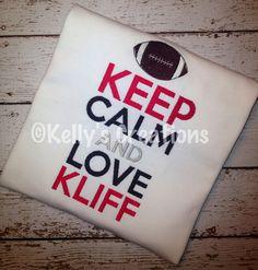 Keep Calm and Love Kliff Texas Tech Football https://www.facebook.com/KellysCreations http://www.kellyscreationstx.com