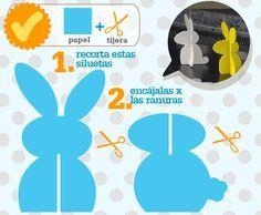 Conejo de pascuas ~ Portal de Manualidades