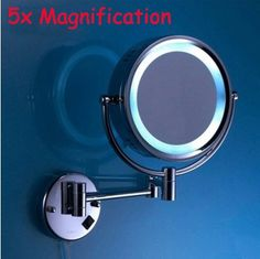 71.24$  Buy here - http://alim1z.worldwells.pw/go.php?t=32268966335 - 2015 Time-limited Top Fashion Espejos High Quality Brass Chrome Bathroom Led Cosmetic Mirror In Wall Mounted Mirrors Accessories 71.24$
