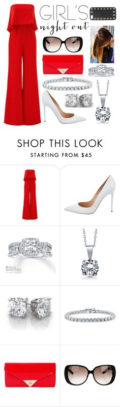 """""""Girls night out"""" by annawell-1 ❤ liked on Polyvore featuring Jay Godfrey, Gianvito Rossi, Angel Sanchez, BERRICLE, JNB, Gucci, Valentino and girlsnightout"""