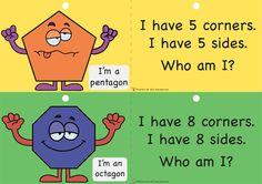 Teacher's Pet - 2D Shape Dangles - FREE Classroom Display Resource - EYFS, KS1, KS2, 2D shapes, properties, dangles 2d Shapes Activities, Teaching Shapes, Eyfs Activities, Primary Teaching, Teaching Math, Maths Games Ks2, Ks1 Maths, Maths Working Wall, Math Wall