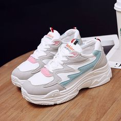 Our Pastel Sneakers have such a cute, adorable style. You'll love getting your workout in these sneakers or wear them everywhere! These are the perfect lightweight sneakers. Try matching with our Pastel Crop Hoodie for the complete look. Chunky Shoes, Chunky Sneakers, Wedge Sneakers, Wedge Shoes, Shoes Sneakers, Platform Sneakers, Tenis Casual, Casual Shoes, Hot Pink Wedges
