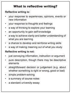 image result for write personal reflection  writing  reflection  how to write a reflection